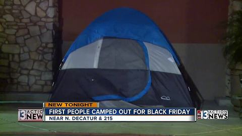 Locals camping outside for Black Friday, and for a good cause