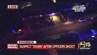 Suspect down after officer-involved shooting in Phoenix - Video