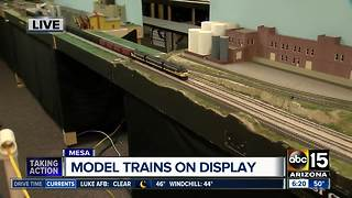 Model trains on display at Red Mountain Library - Video