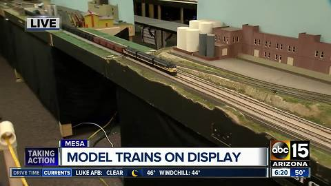 Model trains on display at Red Mountain Library