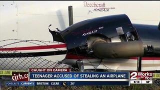 Teenager accused of stealing an airplane