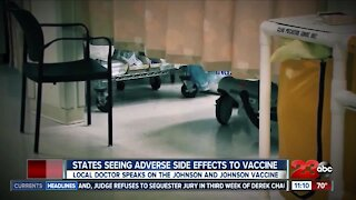 Adverse reactions from Johnson & Johnson vaccines