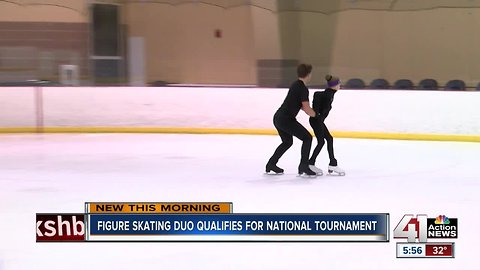 Pairs figure skating team from KC qualifies for nationals