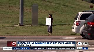 Teacher begs for money to pay for school supplies - Video