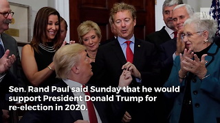 Rand Paul on 2020: I Can't See Myself Supporting Anybody but Trump - Video