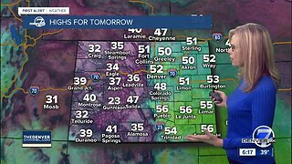 Slightly cooler for Thursday in Denver