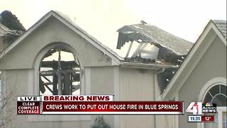 Blue Springs home a total loss after fire - Video