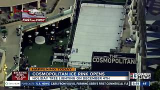 Chopper 13 flies over Cosmopolitan ice rink - Video