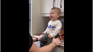 This Baby And His Grandpa Share An Epic Laughing Session And It's Hilarious - Video