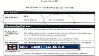 Credit reporting error threatens family's loan - Video