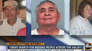 Authorities searching for missing people across the Valley - Video