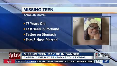 Missing teen may be in danger