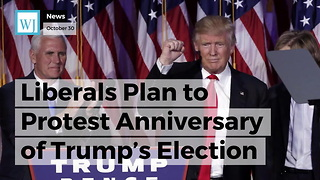 Liberals Plan to Protest Anniversary of Trump's Election by Throwing a Temper Tantrum - Video