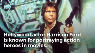 Harrison Ford is a Real Life Hero - Video