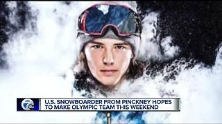 US snowboarder from Pinckney hope to make Olympic team this weekend - Video