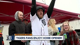 Tigers fans enjoy home opener