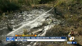 South Bay brush fire sparks fears - Video