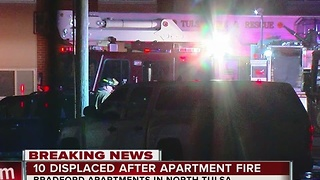 Bradford Apartments Complex Fire - Video
