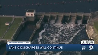 Lake Okeechobee discharges will continue, Army Corps says