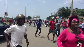 Anti-Government Protesters Flee Tear Gas in Lome - Video