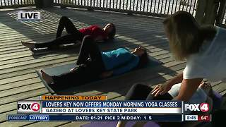 Lovers Key now offers Monday morning yoga classes - 8:30am live report