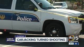 Carjacking suspect shoots after officers, barricades himself in home - Video