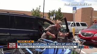 Suspected shoplifting turns into hit-and-run - Video