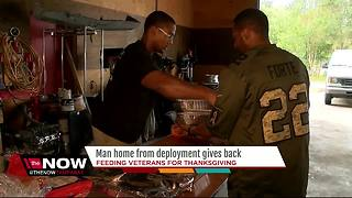 Riverview man home from deployment gives back to homeless veterans on Thanksgiving