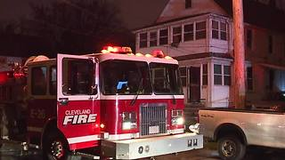 One injured in East 100th house fire - Video