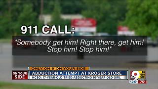 Abduction attempt at Kroger store - Video