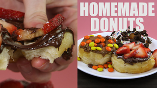 Sugar overload homemade donut recipe - Video