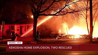 Two rescued after Kenosha home explodes