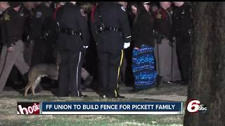 Community raises money to build fence at Pickett home