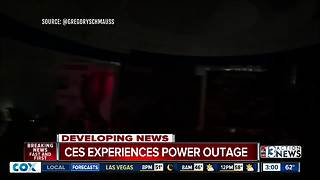 Power fully restored at CES, rain likely cause of outage - Video