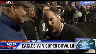 Eagles Fans Take Shots At Cris Collinsworth Commentary During Super Bowl - Video