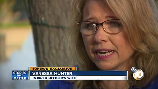 Wife of injured Oceanside officer details recovery - Video