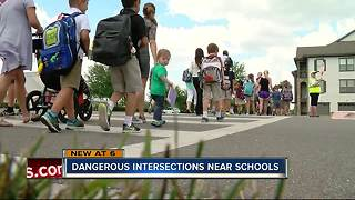 Alarming amount of car crashes outside schools, study says - Video
