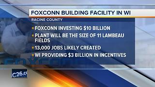Foxconn will build factory in Wisconsin