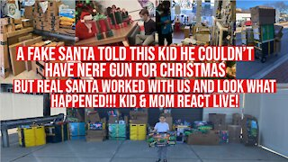 Commie Santa Told This Kid He Couldn't Have A NERF Gun, REAL Santa Saved The Day - Kid Reacts LIVE!