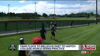 Fans flock to Bellevue East to watch College World Series practices