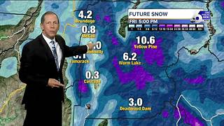 Snow & Rain Heads Towards Idaho - Video