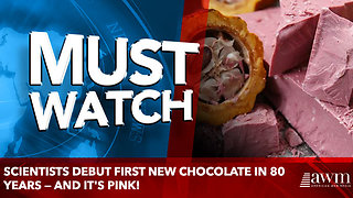 Scientists debut first new chocolate in 80 years — and it's pink! - Video