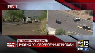 Phoenix police officer in critical condition after crash in north Phoenix - Video