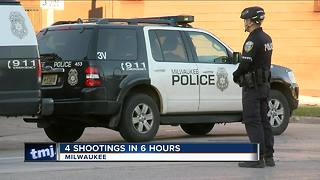 Milwaukee police respond to 4 shootings in 6-hour time span - Video
