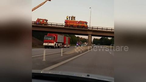 Polish firefighter convoy receives welcome in Sweden