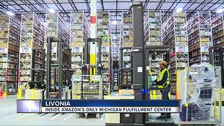 Gov. Snyder says Livonia Amazon fulfillment center is 'great boost' to the economy - Video