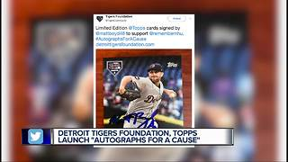 Tigers players, Topps partner to sell trading cards for charity - Video