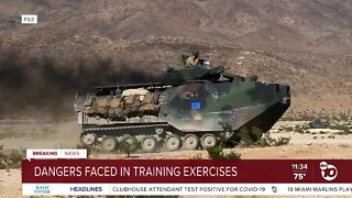 Dangers faced in training exercises