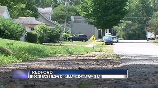 Redford woman saved from carjackers by son, police search for suspects