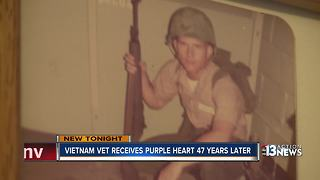 Vietnam vet awarded Purple heart - Video